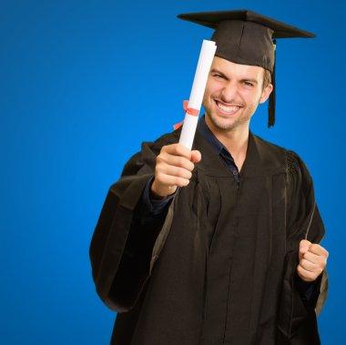 Graduate Man Holding Degree