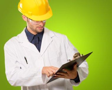 Architect Holding Writing Pad