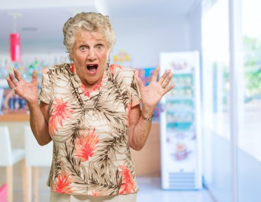 Portrait Of Shocked Senior Woman