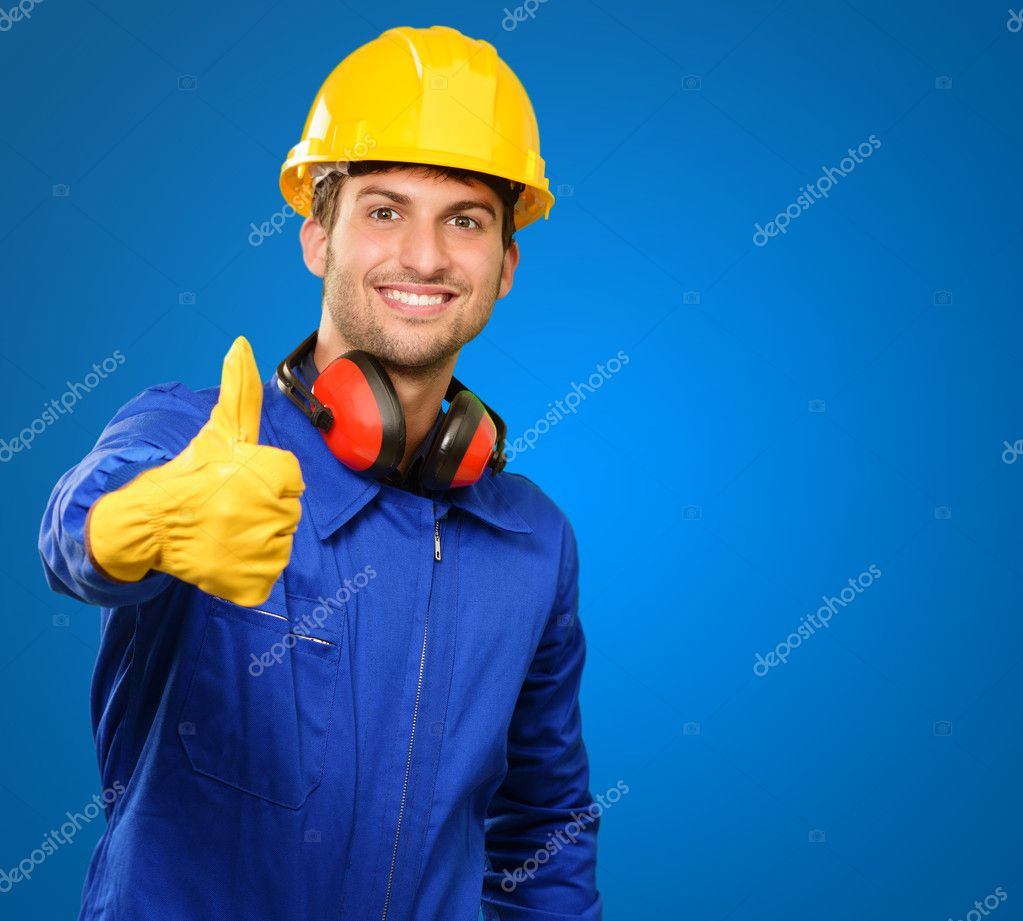 Engineer With Thumb Up Sign
