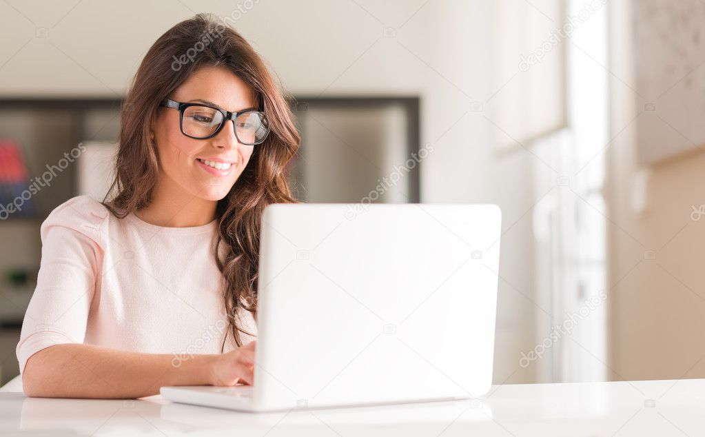 Young Woman Using Laptop