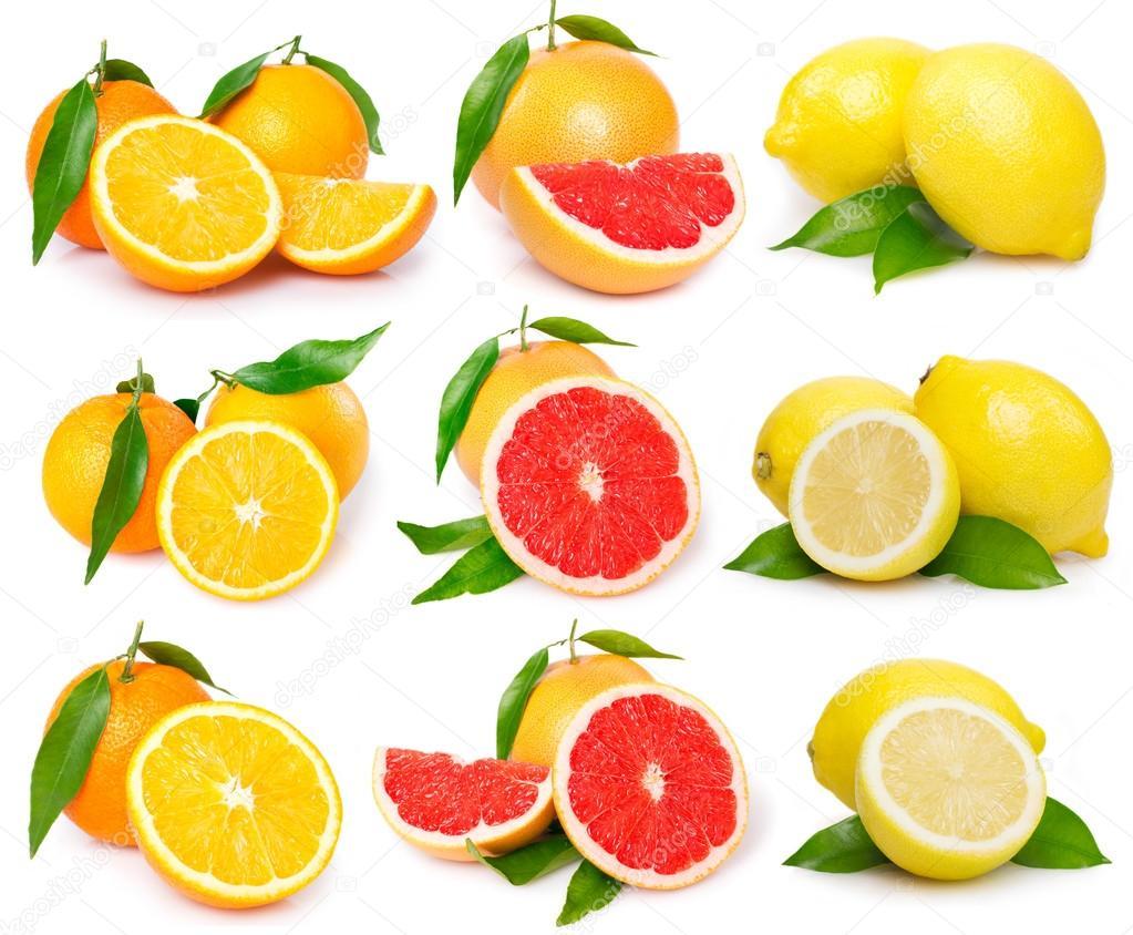 Fresh grapefruit,orange and lemon