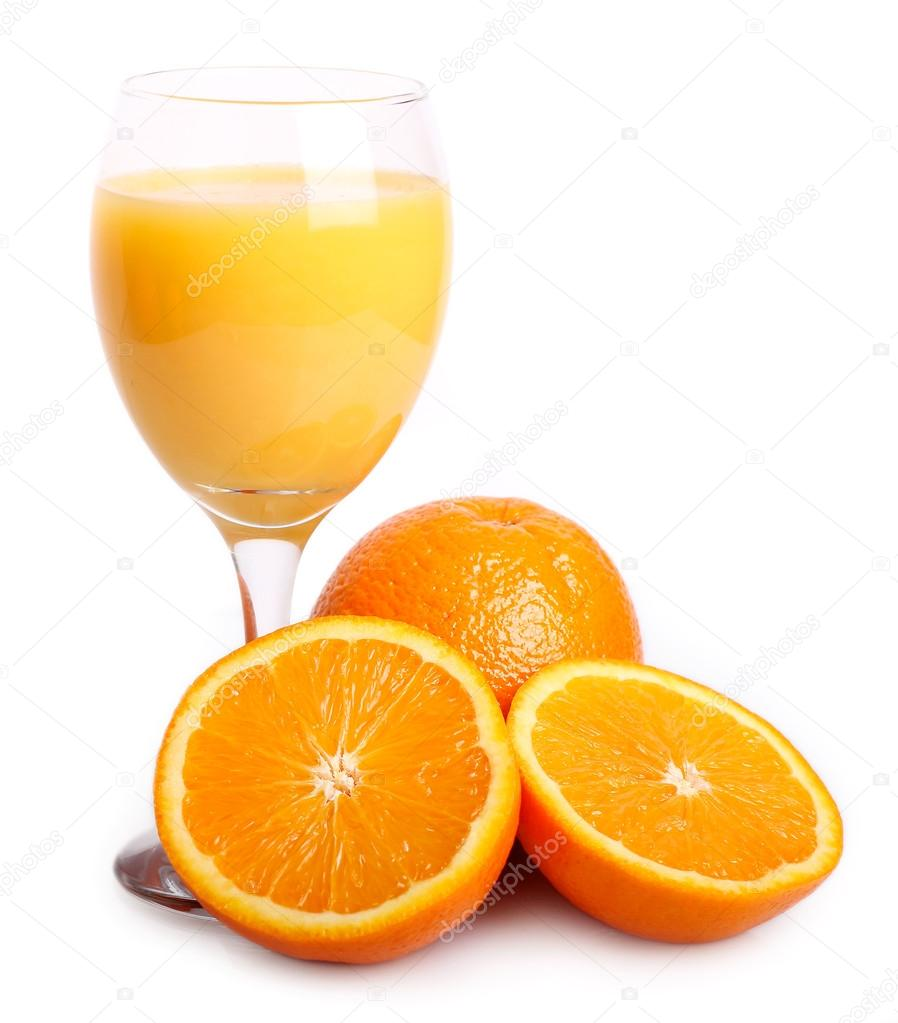 Sweet orange with juice