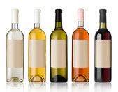 Fotografia set di bottiglie di vino