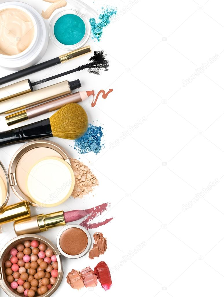 Makeup brush and cosmetics,