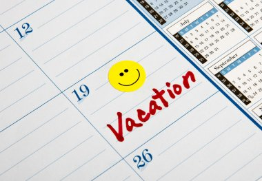 Vacation Note Calendar