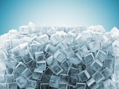 Photo Ice Cubes Abstract Background with place for your text