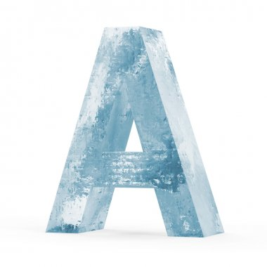 Icy Letters isolated on white background (Letter A)