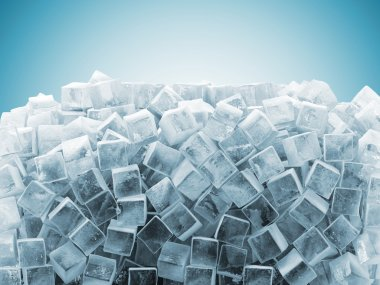 Ice Cubes Abstract Background with place for your text