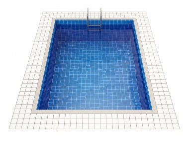 Swimming Pool isolated on white background