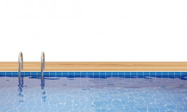 Swimming Pool isolated on white background with place for your text