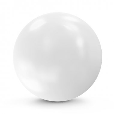 White Sphere isolated on white background