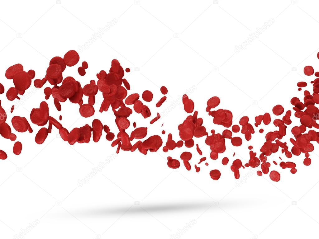 Wave from Red Blood Cells isolated on white background