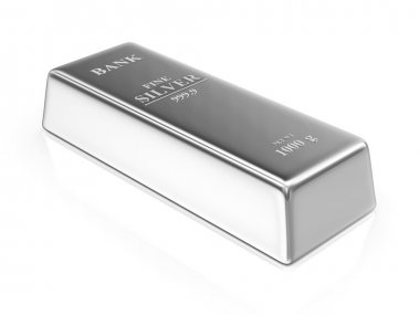 Silver Bar isolated on white background