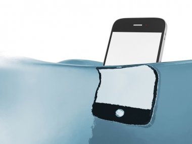 Blank touchscreen smartphone