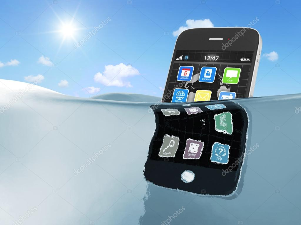 Black touchscreen smartphone