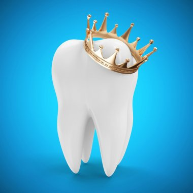 Tooth with Golden Crown