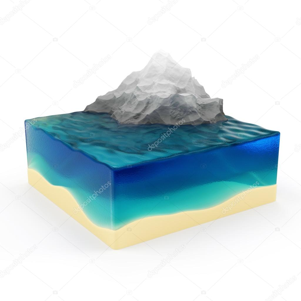 Earth Cross Section with Ocean