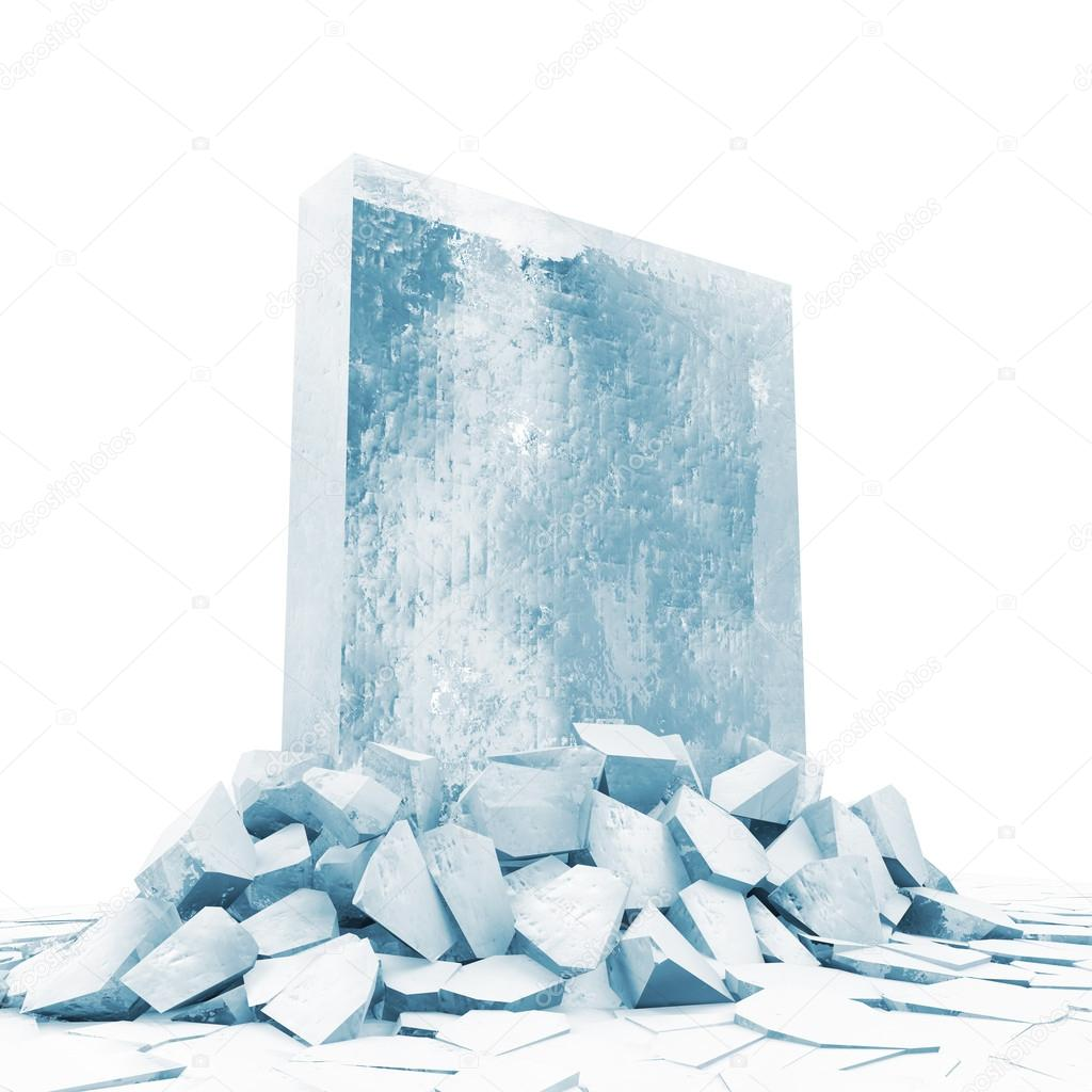 Solid Ice Block