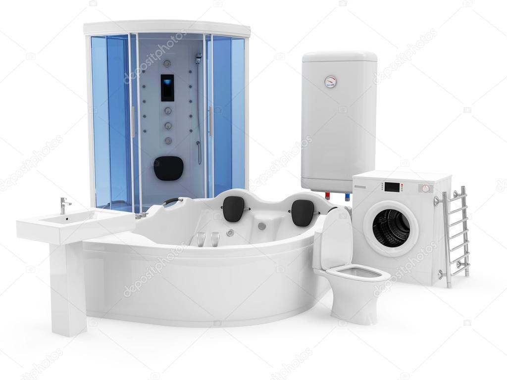 groep van badkamer uitrusting — Stockfoto © ras-slava #50113159