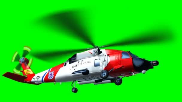 vrtulníku pobřežní hlídka na zelené