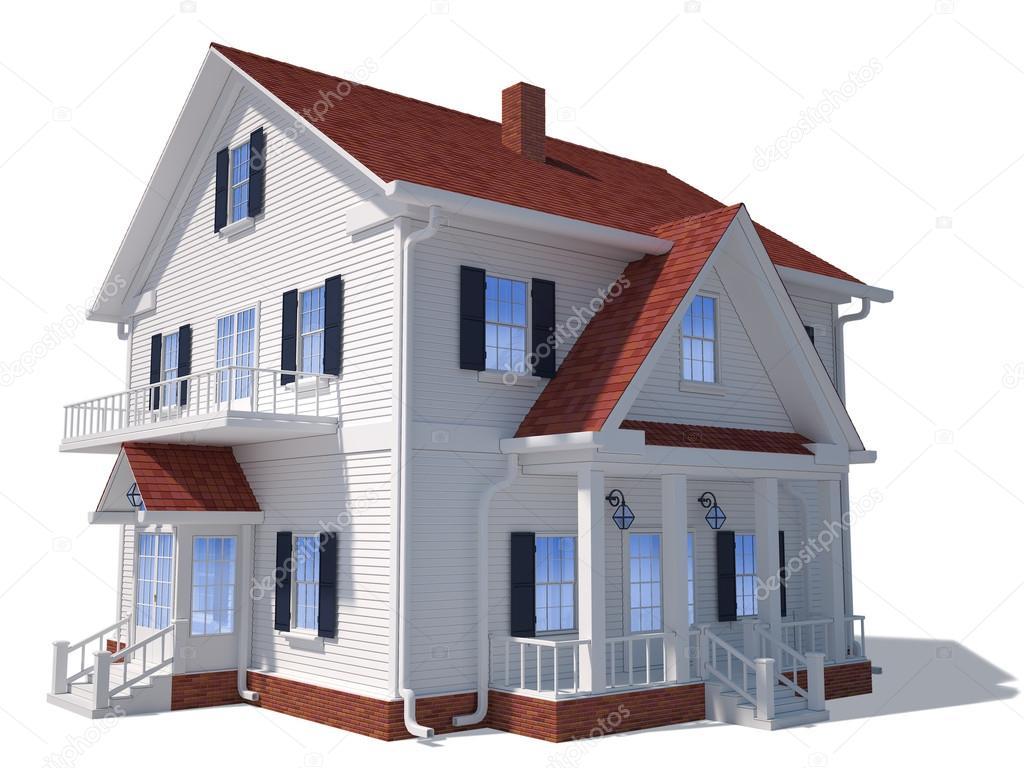 3D Haus außen — Stockfoto © anastad #27073021