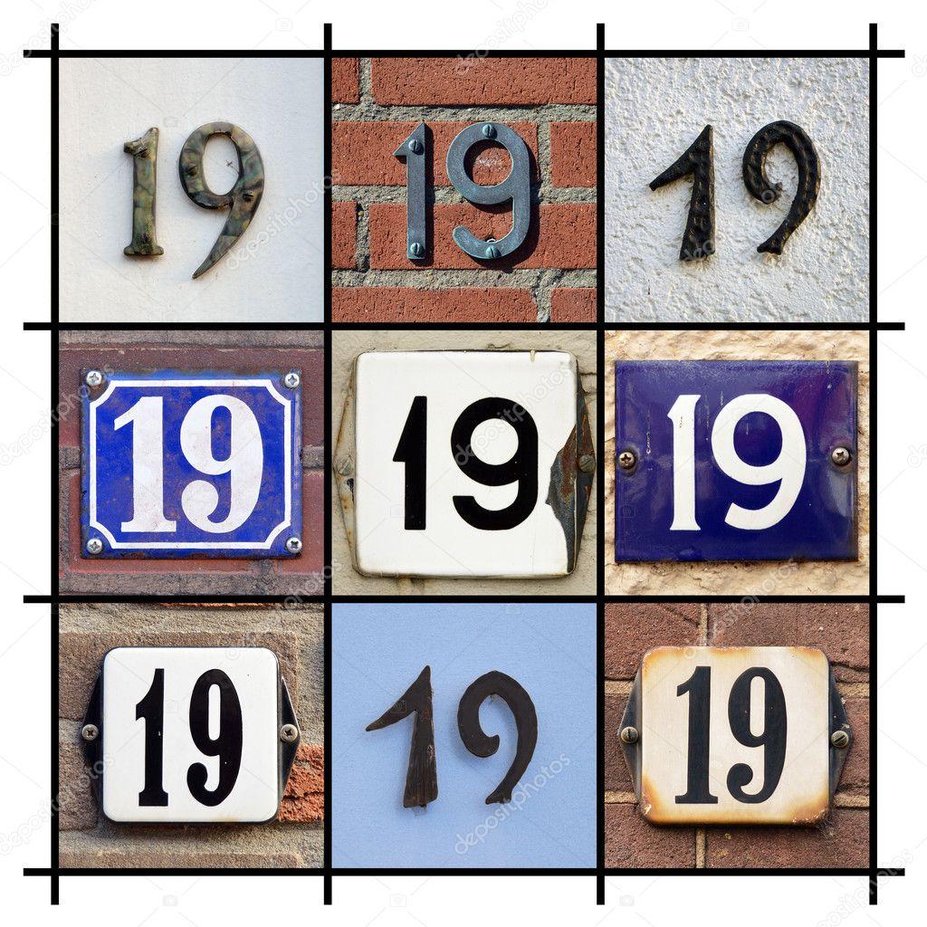 house numbers nineteen ストック写真 defotoberg 26859087