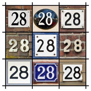 Numbers Twenty eight
