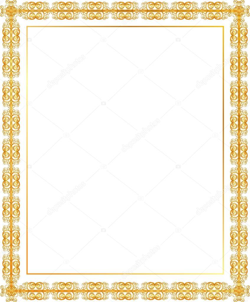 marco dorado — Archivo Imágenes Vectoriales © panambapro #19841715