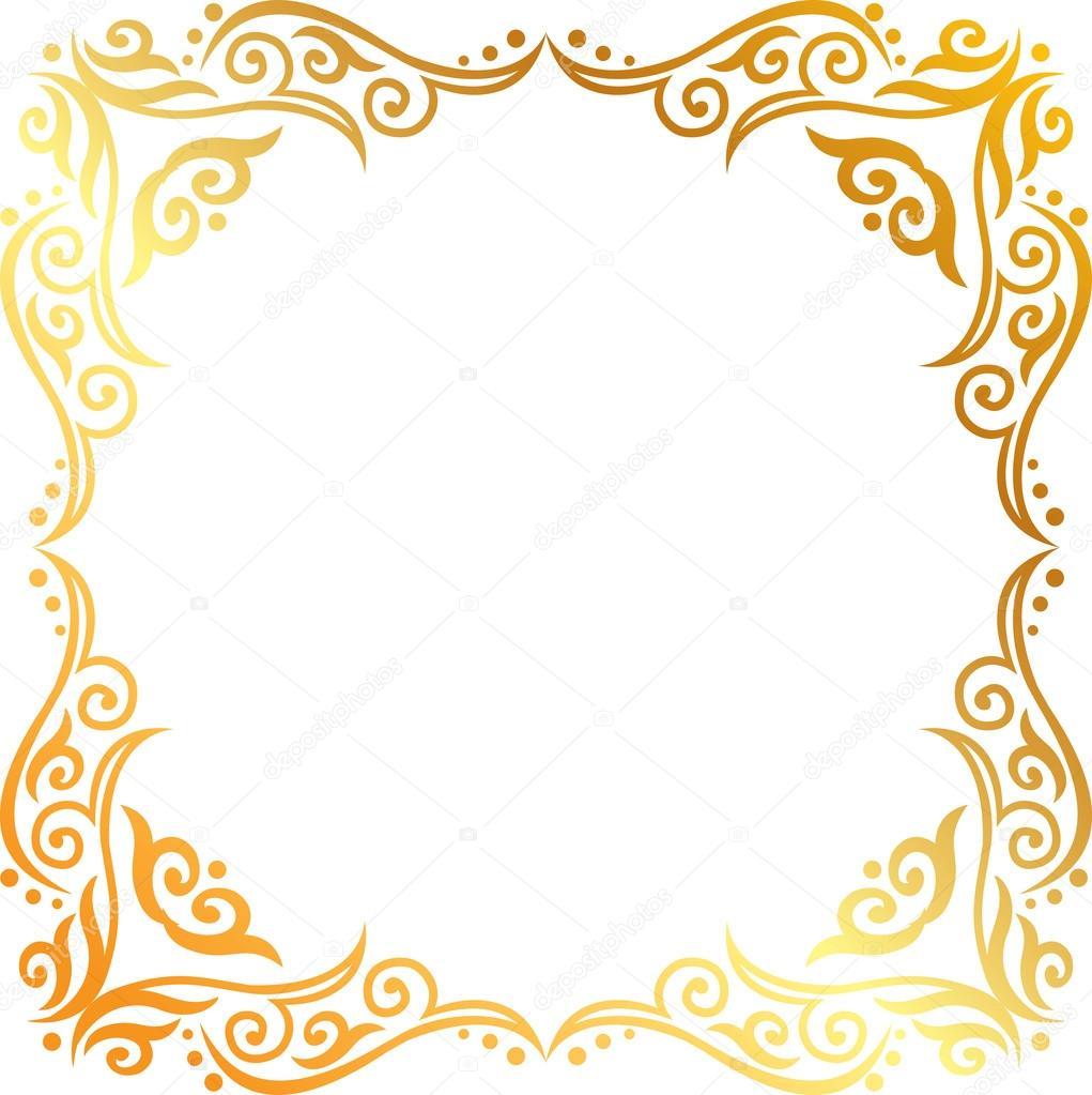 Marcos dorados para fotos plantillas de dorados u vector for Marcos de fotos dorados