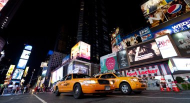 NEW YORK CITY - SEPT 18: Times Square, featured with Taxi Cabs