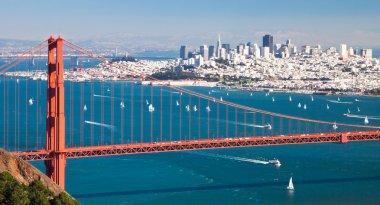 San Francisco Panorama from San Francisco Bay stock vector