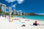 Free Stock photo of Surfing at Blue Water Waikiki Beach