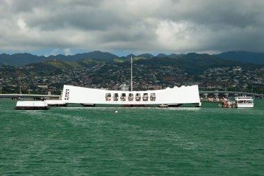 USS Arizona Memorial in Pearl Harbor in Honolulu Hawaii