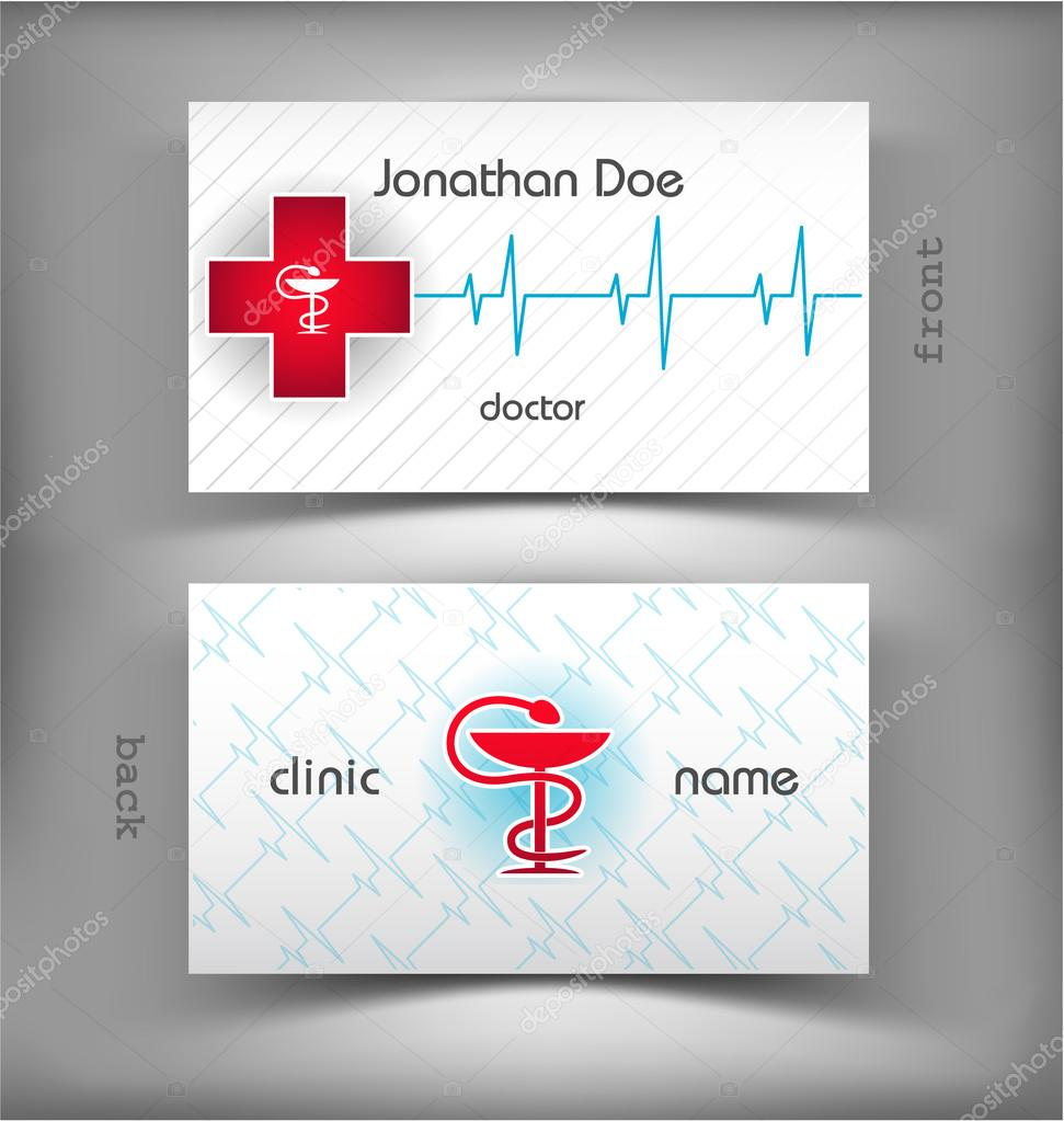 Carte De Visite Medicale Illustration Stock