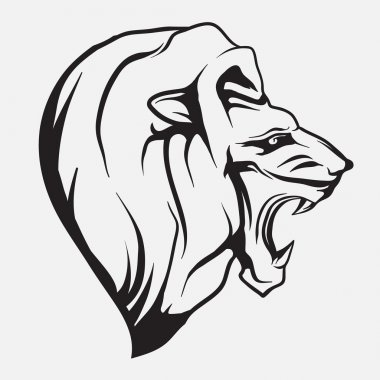 Lion head. Vector.