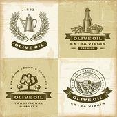 Fotografia set di etichette depoca olio doliva