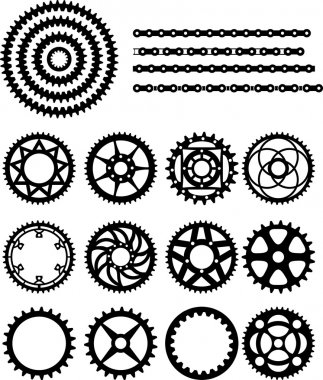 Chain and gears of bicycle