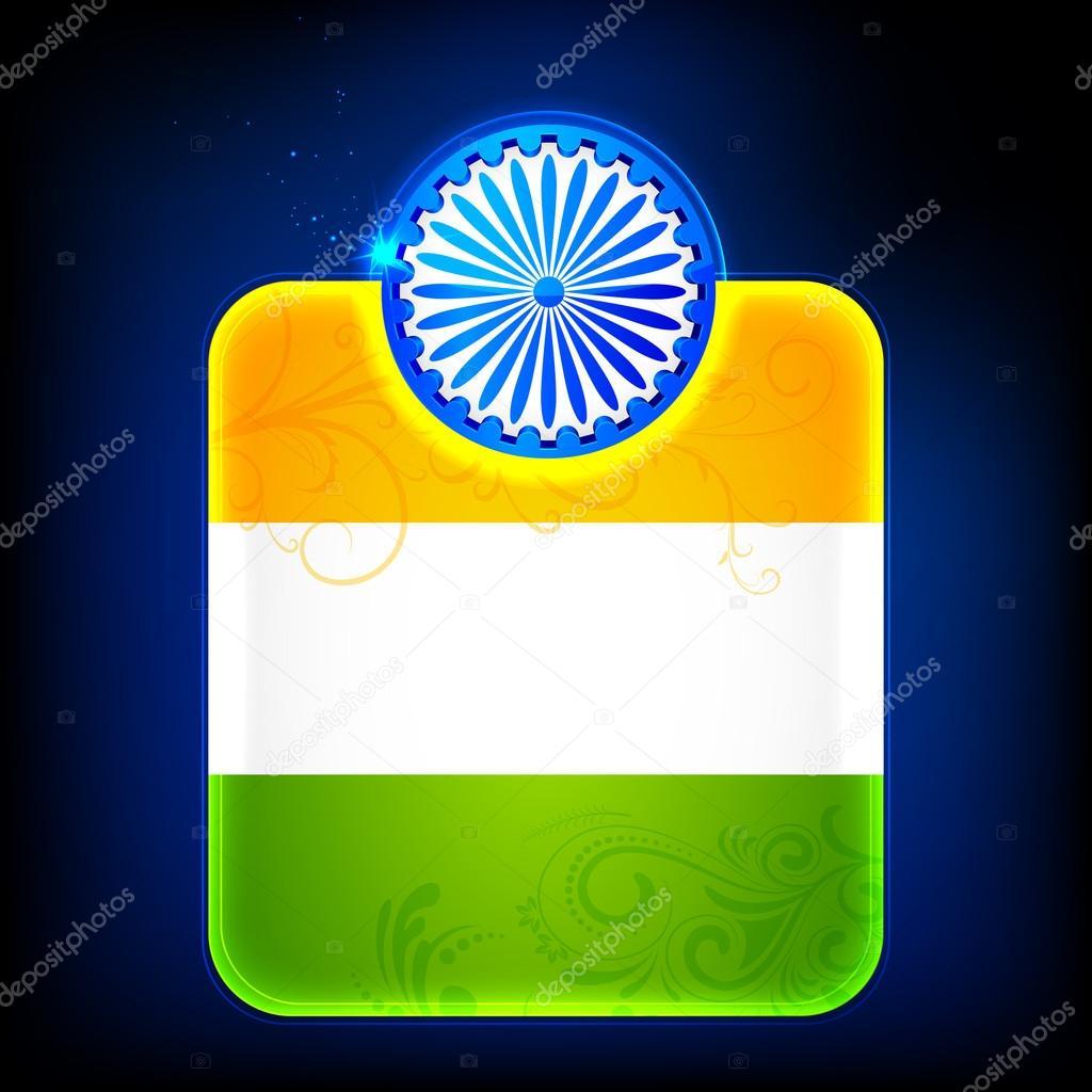 plantilla de bandera India brillante — Vector de stock © vectomart ...
