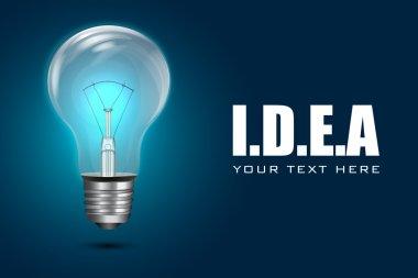Electric Bulb on Iidea Background