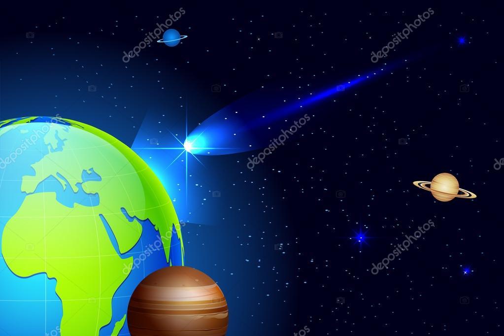 Comet coming toward Earth