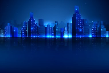 Night Scene of City