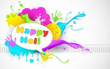 Illustration of colorful splash in Holi wallpaper stock vector