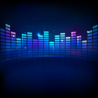 Illustration of music equaliser bar in shiny background stock vector