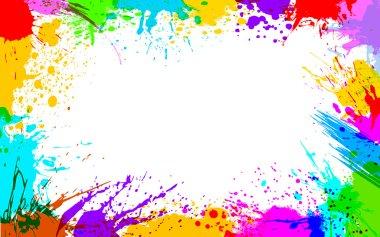 Illustration of colorful grunge making frame stock vector