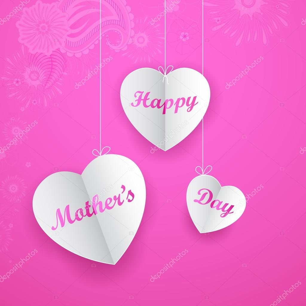 V Mother's Day Happy Mother's Day Bac...
