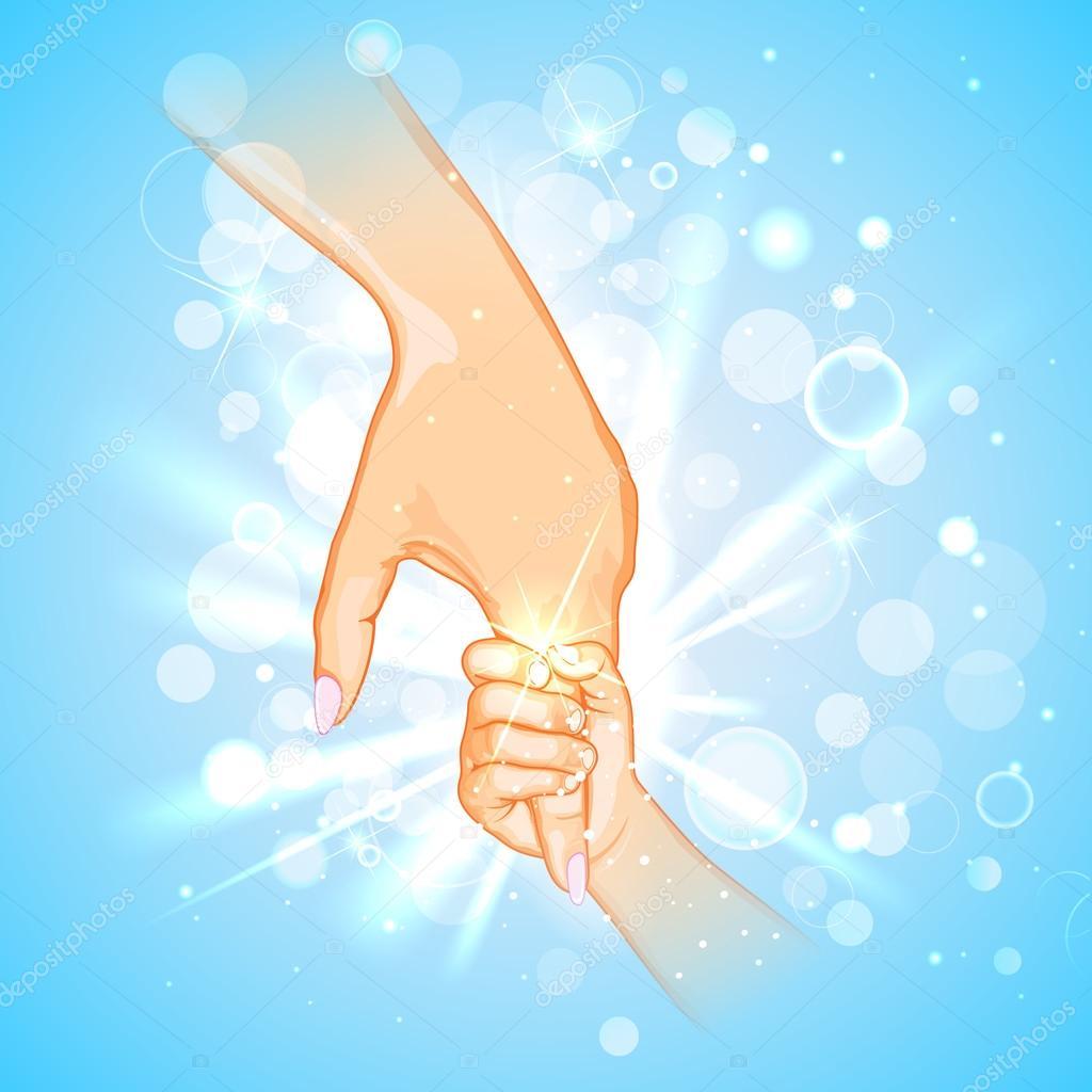 Открытки рука мамы и малыша