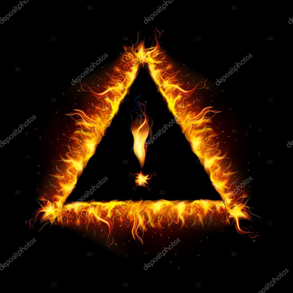 Fiery Danger Sign