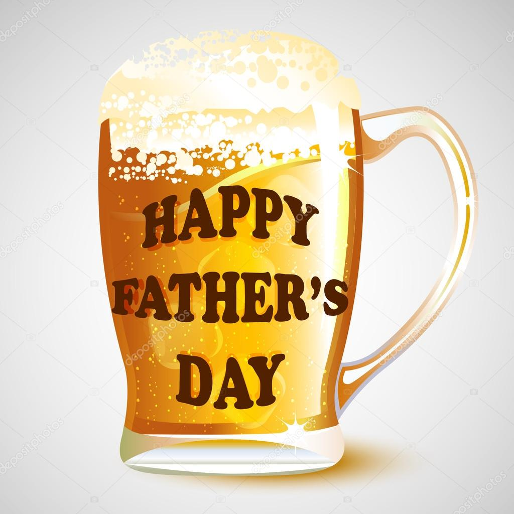 happy fathers day message on beer mug stock vector