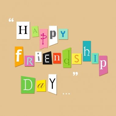 Illustration of friendship tagcloud on Happy Friendship Day Greetings clip art vector